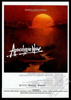 1979 Apocalypse Now movie release vintage print ad