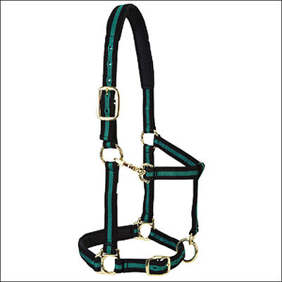 Weaver Green Padded Adjustable Chin And Throat Snap Halter Small Horse