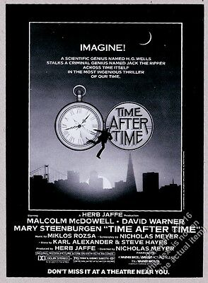 1979 Time After Time movie release vintage print ad