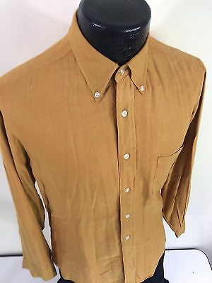 Vtg 30-40's ROGERS PEET Depression Era Gold KETTLE Cloth GABARDINE Dress Shirt M