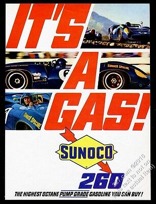 1967 Sunoco Special race car 4 photo 260 gas vintage print ad