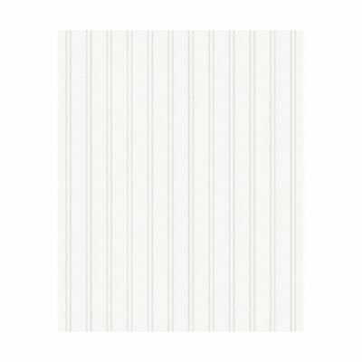 Graham & Brown Paintable Prepasted Beadboard Stripes Texture Wallpaper White