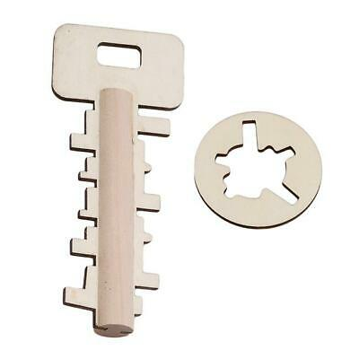 Intelligence Educational Wooden Key Unlock Puzzle New Novelty Children Toy LC