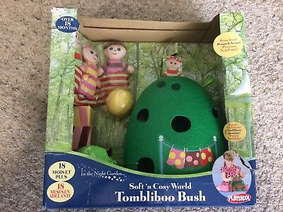 Rare In The Night Garden Character  Figurines Soft & Cosy Tombliboo Bush  New