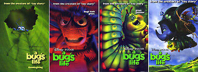 A Bug's Life (1998) set of 4 movie posters reproduction single-sided rolled