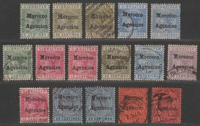 Morocco Agencies 1898-1905 QV-KEVII Overprint Selection to 50c Used