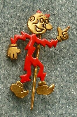 Reddy Kilowatt Electric Advertising Stick Pin Design Patent Vintage