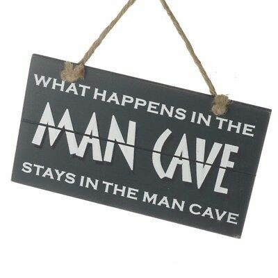 Hanging Man Cave Shed Garage Sign Mens Plaque Bar Pub Funny Door Dad Gift