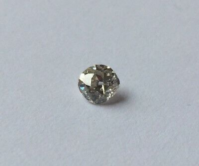 Old Cut Mine Cut Round Loose Natural 0.35 Carat Diamond I1 H/I