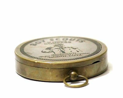 American Boy Scout Compass Antique Vintage Brass Compass