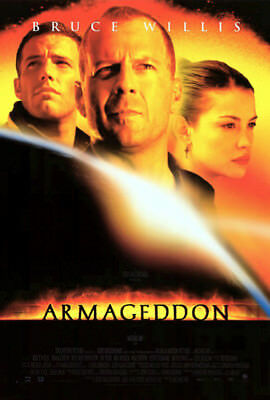 Armageddon (1998) movie poster international reproduction single-sided rolled