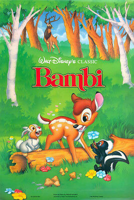 Bambi (1942) movie poster reproduction single-sided rolled