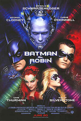 Batman & Robin (1997) movie poster reproduction single-sided rolled