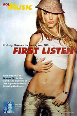 Britney Spears - In The Zone (2003) original album promo poster s-sided rolled