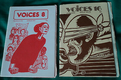 Voices. 2 Issues Nos.14 & 16. 1977/78. Pub.Manchester Unity of Arts Society. PBs