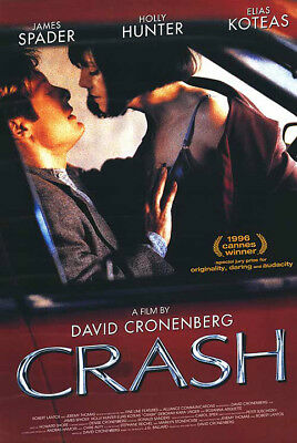 Crash (1997) movie poster international reproduction single-sided rolled