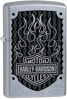 Zippo 29157, Harley Davidson, Street Chrome Finish Lighter, Full Size