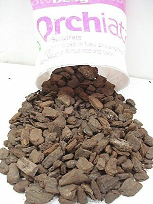 """Orchiata New Zealand Orchid Bark - Extra Large 1"""" Chips - 2.5 Gallon Bag"""