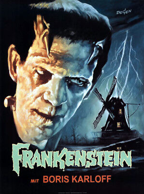 Frankenstein (1931) german poster reproduction single-sided rolled