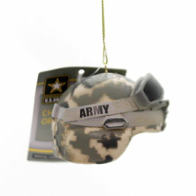 Holiday Ornaments ARMY COMBAT HELMET Polyresin Camouflage Ornament Am2131