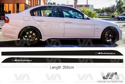 Bmw 3 Series E90 E91 M Performance Side Skirt Stickers Decals Vinyls