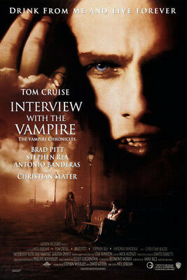 Interview with the Vampire (1994) movie poster reproduction single-sided rolled