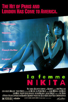 La Femme Nikita (1990) movie poster reproduction version A single-sided rolled