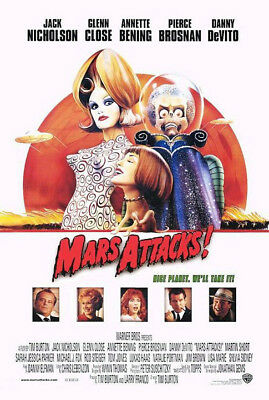 Mars Attacks! (1996) movie poster version C reproduction s-sided rolled