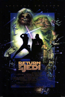 Return of the Jedi (1983) movie poster R. 1997 reproduction single-sided rolled