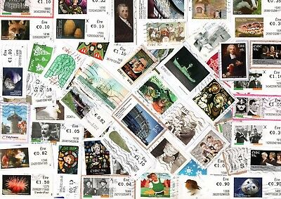 A Lovely Mix Of Mostly Recent Euro Commemorative Stamps From Ireland
