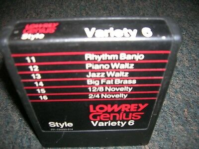 Lowrey Genius Software: Style Variety 6 ... for use with G series Genius organs