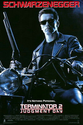 Terminator 2: Judgment Day (1991) movie poster reproduction single-sided rolled