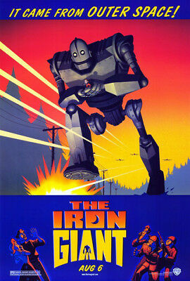 The Iron Giant (1999) original movie poster single-sided rolled