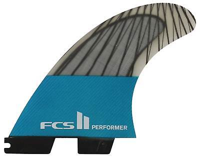 FCS II Performer Performance Core Carbon Tri Fin Set - Teal - X-Large - New