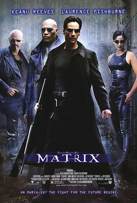 The Matrix (1999) movie poster reproduction single-sided rolled