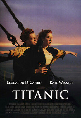 Titanic (1997) movie poster version D reproduction single-sided rolled