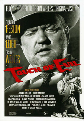 Touch of Evil (1958) movie poster reissue 1998 reproduction single-sided rolled