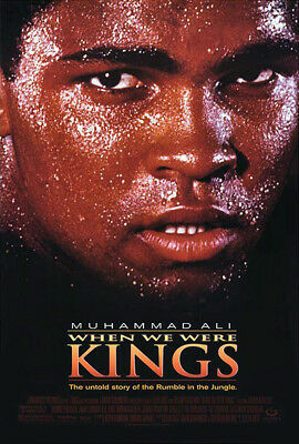 When We Were Kings (1997) movie poster reproduction single-sided rolled