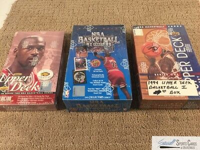 (3) 1992-1995 Upper Deck Basketball factory sealed wax box lot,  *SEWALL*