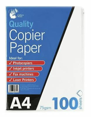 100 Sheets A4 Multi-Purpose White Inkjet Laser Printing Copier Paper Office Home