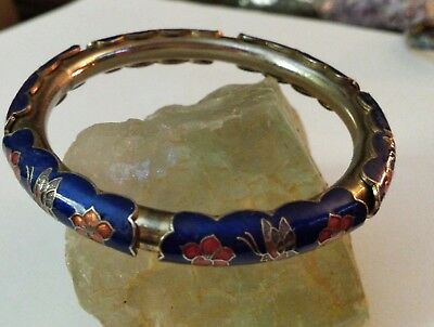 Multi Color Enameled Flowers & Butterflies Bangle