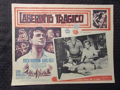1962 THE SPIRAL ROAD Foreign 16x12 Lobby Card VG-/VG Rock Hudson LOT of 5