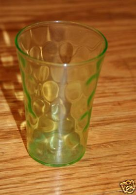 Federal Glass Depression Thumbprint Tumbler MINT