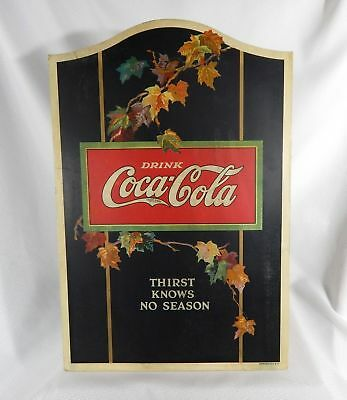 Coke Coca Cola Cardboard Easel Back Sign 1922 Vintage