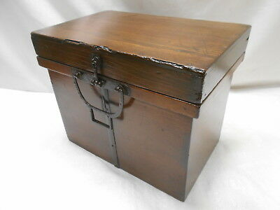 Antique Sugi Wood Travellers Box Japanese Trunk C1860s #710