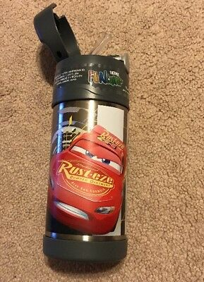 NEW Thermos 12 oz  Funtainer Bottle 12 hrs cold Disney Cars Lightning McQueen