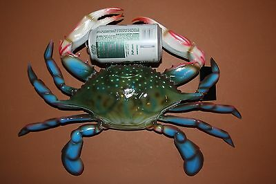 "(4) Giant Life-Like Realistic Blue Crab, 16"", Mega Blue Crab Replica, 3-D"