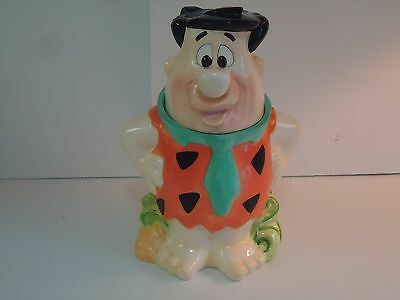 Fred Flinstone Ceramic Cookie Jar-Rare-Collectors Item-Bedrock-The Flinstones