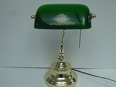 Vintage Canada Dry Gingerale Desk Lamp-Bankers Green Shade-Advertising-Soda