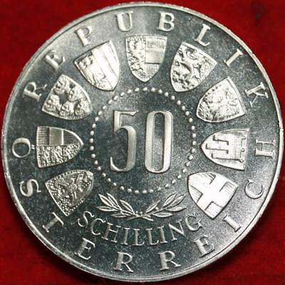 Uncirculated 1963 Austria 50 Schillings Silver Foreign Coin Free S/H